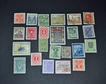 100 Austria stamps some mint some from the 1930's