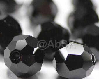 Promotion Item - 100 pcs Swarovski Elements 5000 5mm Crystal Round Beads - JET (While Stocks Last)