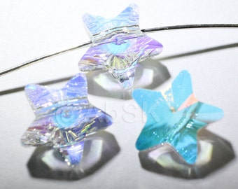 6 pieces Swarovski elements crystal STAR Beads 5714 CLEAR AB - Available in 8mm and 12mm