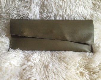 Olive Clutch-  1464