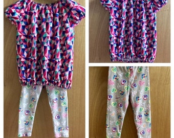 Jersey Knit Top and and Leggings, child size 4/5