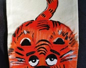 Hand Painted Tiger Canvas Puppet