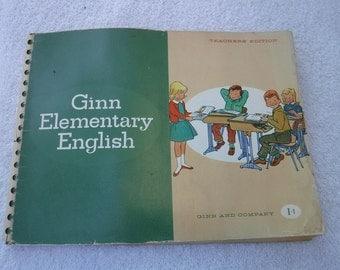 Teachers Edition Ginn Elementary English 1963 by Reid and Crane Ginn & Company