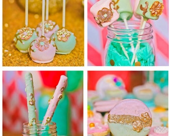 CANDY BUFFET,  Featured at Hostess with the Mostess, Custom made with your colors