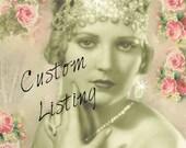 Custom Listing for Pam - Wedding Bridal Flat Shoes Rhinestone Pearls - eyelet trim - Shabby vintage inspired - sneakers tennis