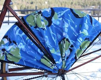 Bike Skirt Guard, 'Blue Hawaii'