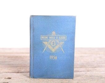 Vintage Books / 1956 Masonic Manual / Antique Masonic Books / Grand Lodge Alabama / Old Books / Antique Books / Gillette Stubinger