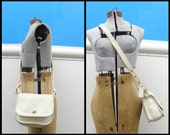 COACH Vintage USA Leather Off White Handbag L6C-9965