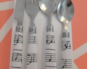Music Note Cutlery Set