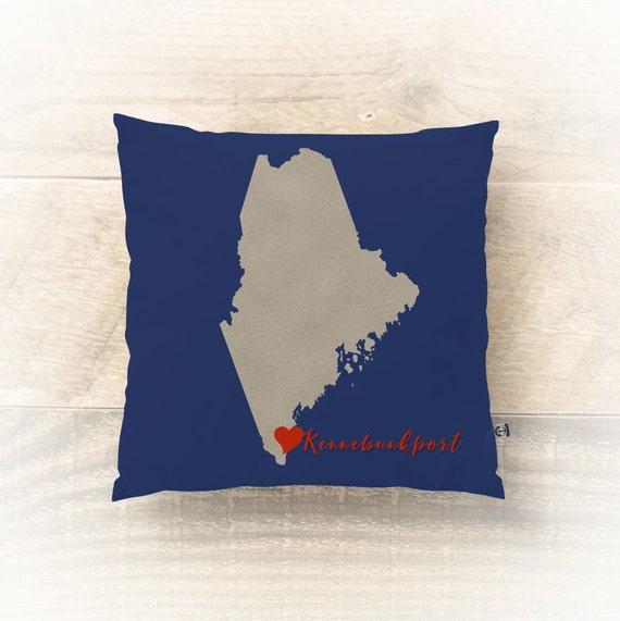 Modern Beach Pillow : Kennebunkport Pillow Maine Modern Art Vacation Beach House