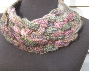 Triple Braided  Cowl/Double Layered Neck Scarf