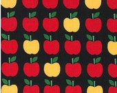 Apples on Black from Robert Kaufman's Back to School 2 by Ann Kelle