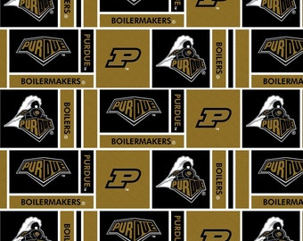 Fat Quarters ONLY - Purdue Boilermakers Fabric