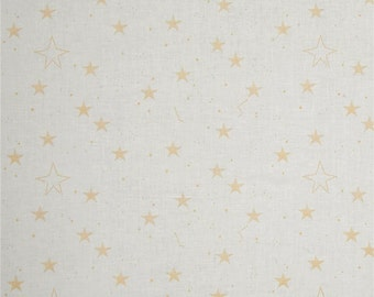 Metallic Gold Luck Stars on White from Michel Miller's MAGIC! Collection by Sarah Jane