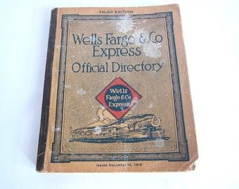 Wells Fargo Collectibles, 1916 Official Employee Directory for Wells Fargo
