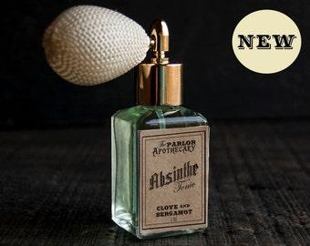 Absinthe Tonic - Clove Bergamot Perfume - Rose Lavender Citrus - Atomizer Bottle -1 oz