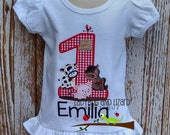 Birthday Farm Number Ruffle Top Size 12M-18M, 2T-5T, 6