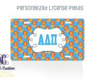 Alpha Delta Pi/Personalized License Plate