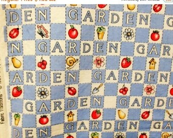 SUMMER SALE 20% Off 1 Yard Cotton Print Garden Fabric