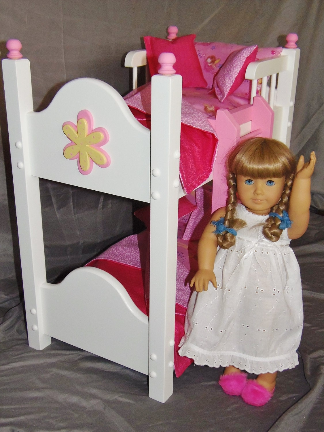 doll bunk bed fits american girl doll and 18 inch dolls with. Black Bedroom Furniture Sets. Home Design Ideas