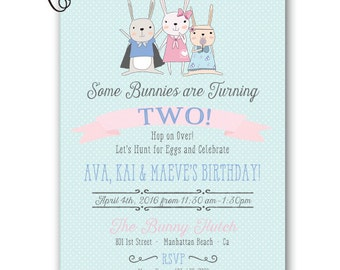 Easter Birthday Invitation Bunny Birthday Easter Egg Hunt Easter Party Easter Birthday Party Invitation 5x7 Printable Spring Easter Egg Hunt