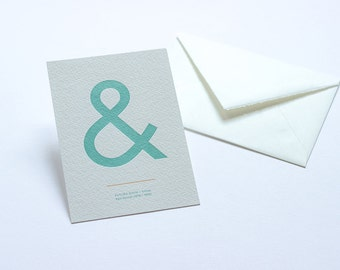Letterpress Ampersand Postcard - Futura Book