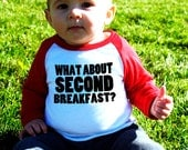 What About Second Breakfast? Baby Baseball T-Shirt
