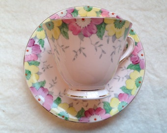 Vintage Tuscany China Floral Tea Cup