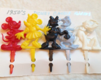 Set of 5 Vintage Disney Party Cake Candle Holders