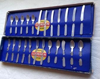 24 Piece Vintage Toy Silverware Set
