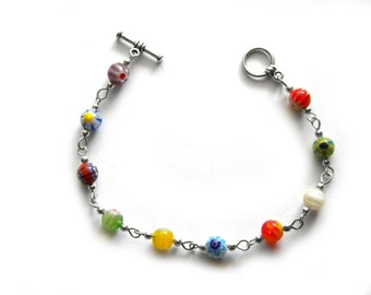 Multi Millefiori Bracelet