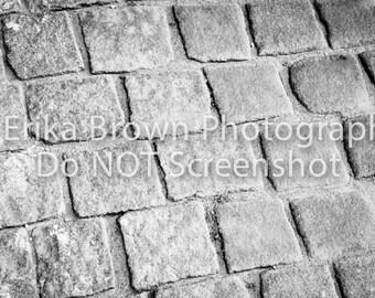 "Cobblestones | Abstract Travel Photography Canvas Art 16""x20"""