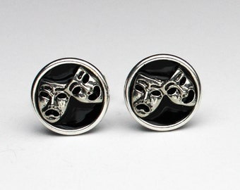 Comedy and Tragedy Cufflinks, Gifts For Men