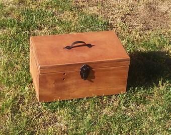 Handmade Wooden Tool Box - Wood Tool Chest