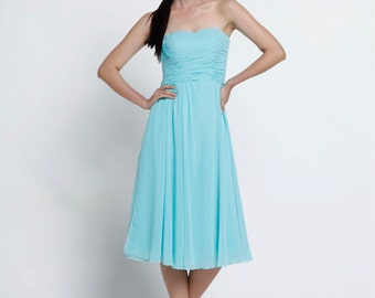 On Sale Size XXS Light Blue Wedding dress party dress bridesmaid dress - NC639-4