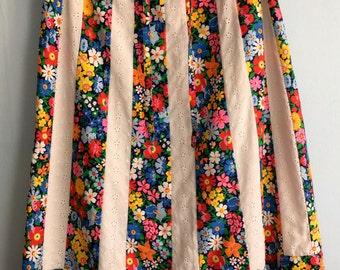 Vintage 70s 80s Skirt  A-line Skirt Size Large