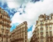 Paris Photography, Architecture Print, Tan Home Decor, City Photograph, Paris Buildings, Travel Art, French Home Decor, Paris Print