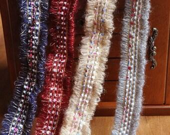 "5 yard 3.5cm 1.37"" wide tassels fringes lace trim ribbon L5K1213 HB15121604 free ship"