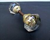 Mercury Glass Door Knobs / Round Deco Clear Glass Door Knobs