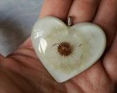 Dandelion Wishes Heart Pendant