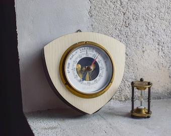 Vintage Laminate Barometer // 1970 Wall Hanging