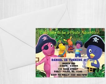 The Backyardigans Pirate Invitation