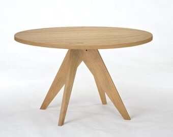 """48"""" Round White Oak Dining Table"""
