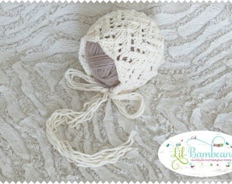 Lacy Cream Bonnet