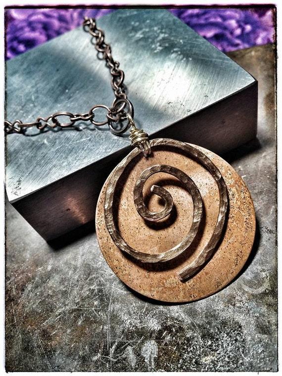 Celtic Copper Spiral