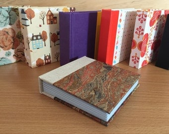 Gorgeous traditional marbled paper Bitty Book