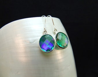 Neptune's Garden Topaz Silver Drop Earrings