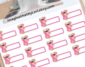 Breast cancer chemo planner stickers