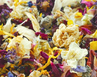 40 US cup Mix from Dried Flowers for Wedding Confetti Petal Wedding Decor and Tossing Flower