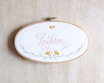 Spring Garden Name Sign